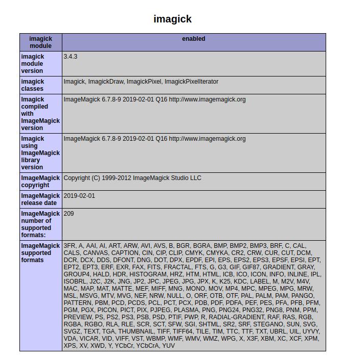 Check Imagick Version